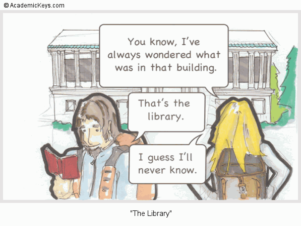 Cartoon #70, The Library